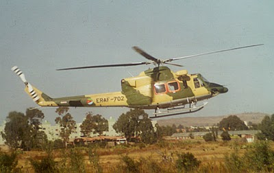 Eritrean Air Force on bell 412 helicopter